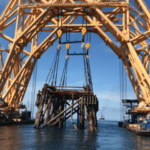 Una plataforma de Shell reconvertida en arrecife artificial