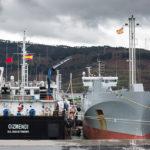 Primera prueba de suministro de barco a barco de GNL en Bilbao