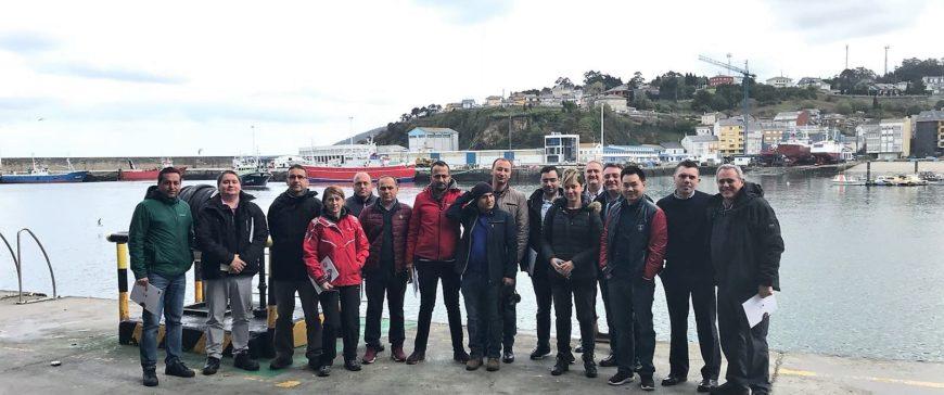 Puerto Celeiro muestra su modelo de gestión a una delegación turca