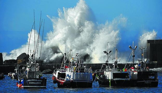 Los pescadores del Cantábrico han vivido el peor inicio del año por las borrascas