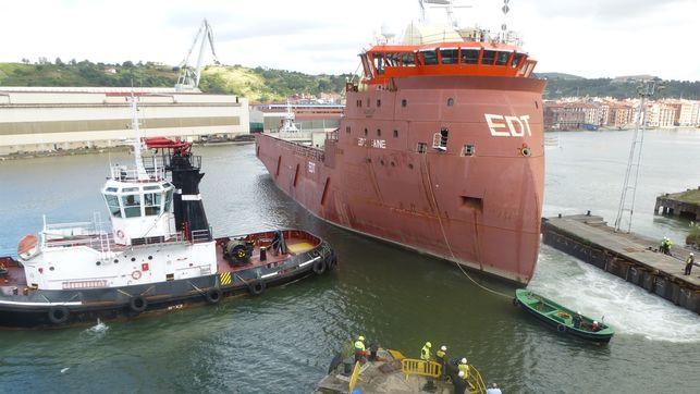 El armador Van Oord respeta el acuerdo para refinanciar una construcción en La Naval