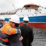 Botado el buque congelador Ponta Matirre de Nueva Pescanova, para la pesca de langostino