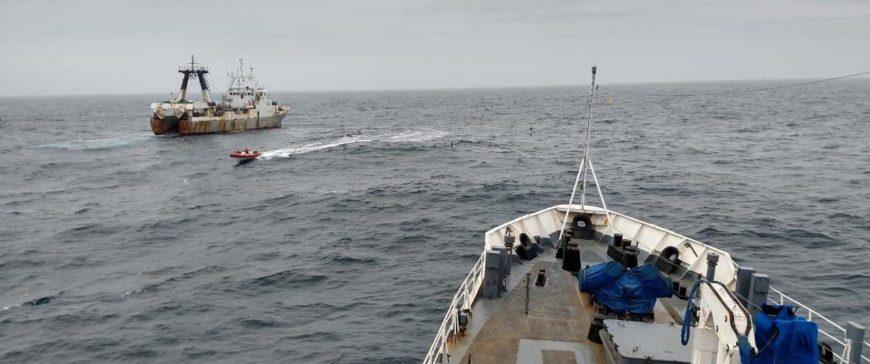 Argentina apresa a un arrastrero portugués dentro de la ZEE