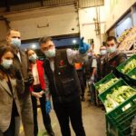 Los Reyes agradecen en Mercamadrid la labor realizada por sectores en el abastecimiento de alimentos
