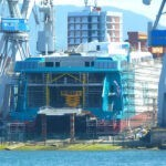 El catamarán de Armón para Balearia tiene instalada la imagen corporativa